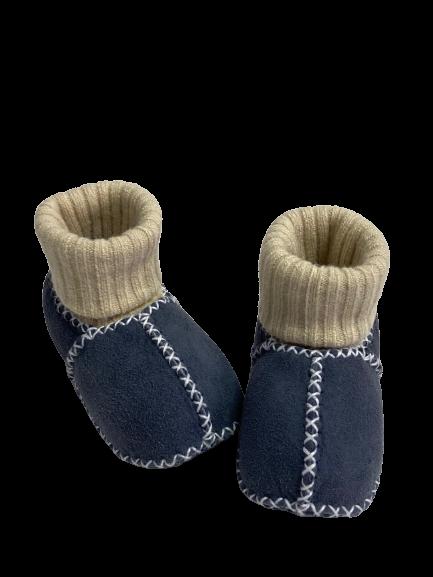 Baby-Lammfellschuhe anthrazit