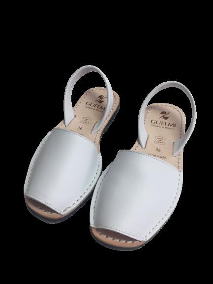 Leder Sandalen Weiß