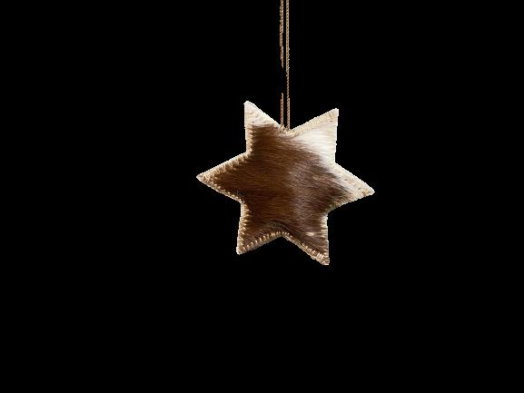 Hänger Stern aus Fell Gr. M
