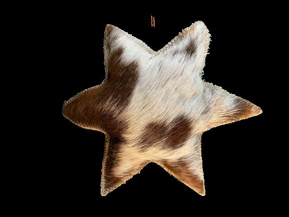 Hänger Stern aus Fell Gr. L