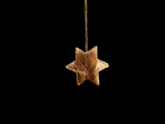 Hänger Stern aus Fell Gr. S